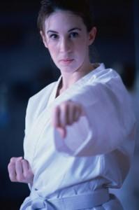 Women performing martial arts