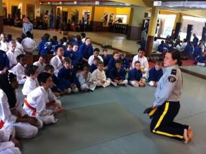 RCMP Officer Visits K2