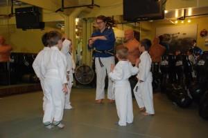 Sensei Maddie teaching little Ninja's